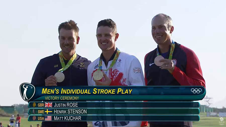 Justin Rose Olympic Gold in Rio